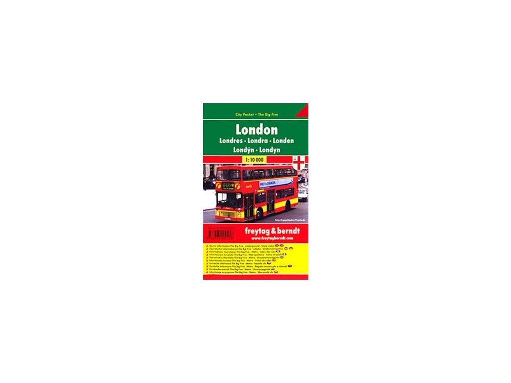 Londýn plán, mapa kapesní lamino FB 1:10T
