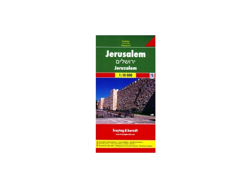 Jeruzalém plán, mapa kapesní lamino FB  1:12500
