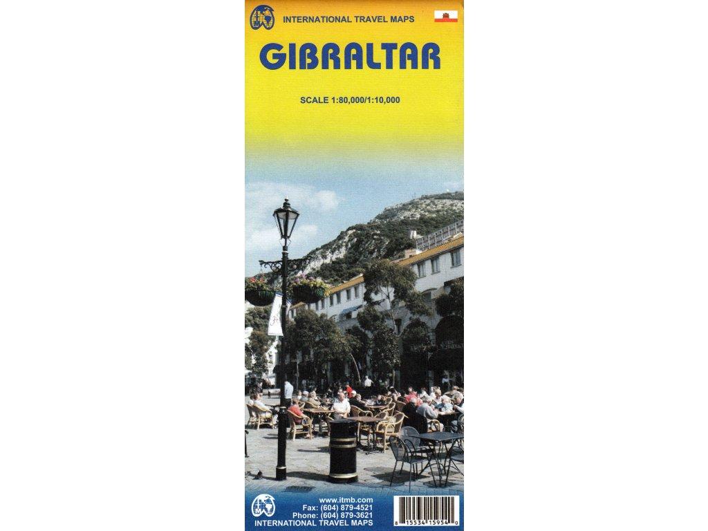 Gibraltar,  mapa  1:10tis. ITM