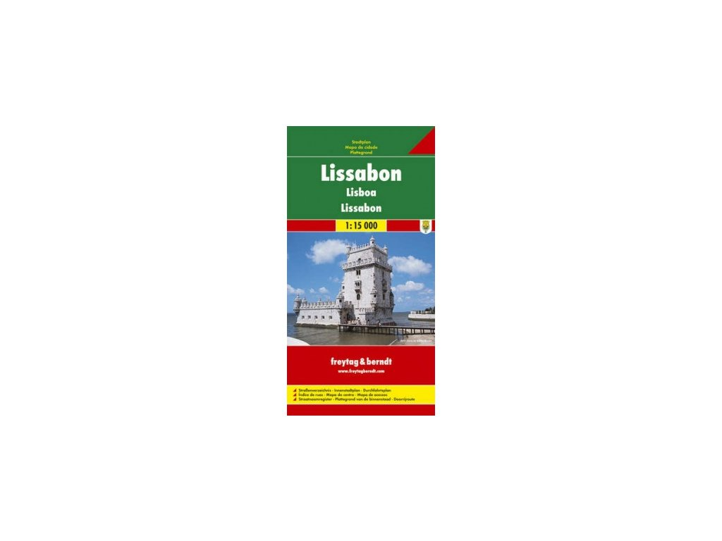 Lisabon  plán, mapa  FB  1:15T