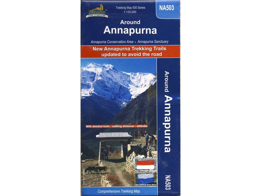 Annapurna Around/trek.mapa 1:125t NepaM.
