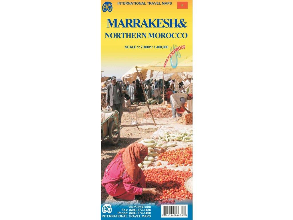 Marrakesh /plán + sev.Maroko mapa 1:1,4M ITM