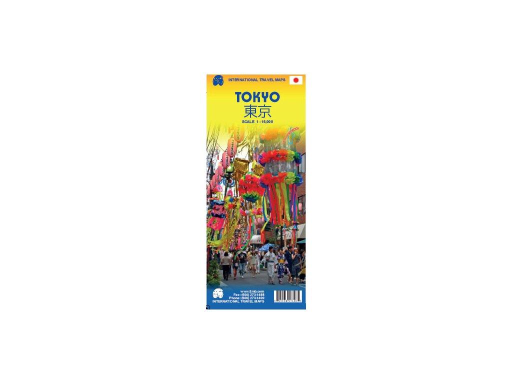 Tokyo+central Japonsko/plán,  mapa  1:15t ITM