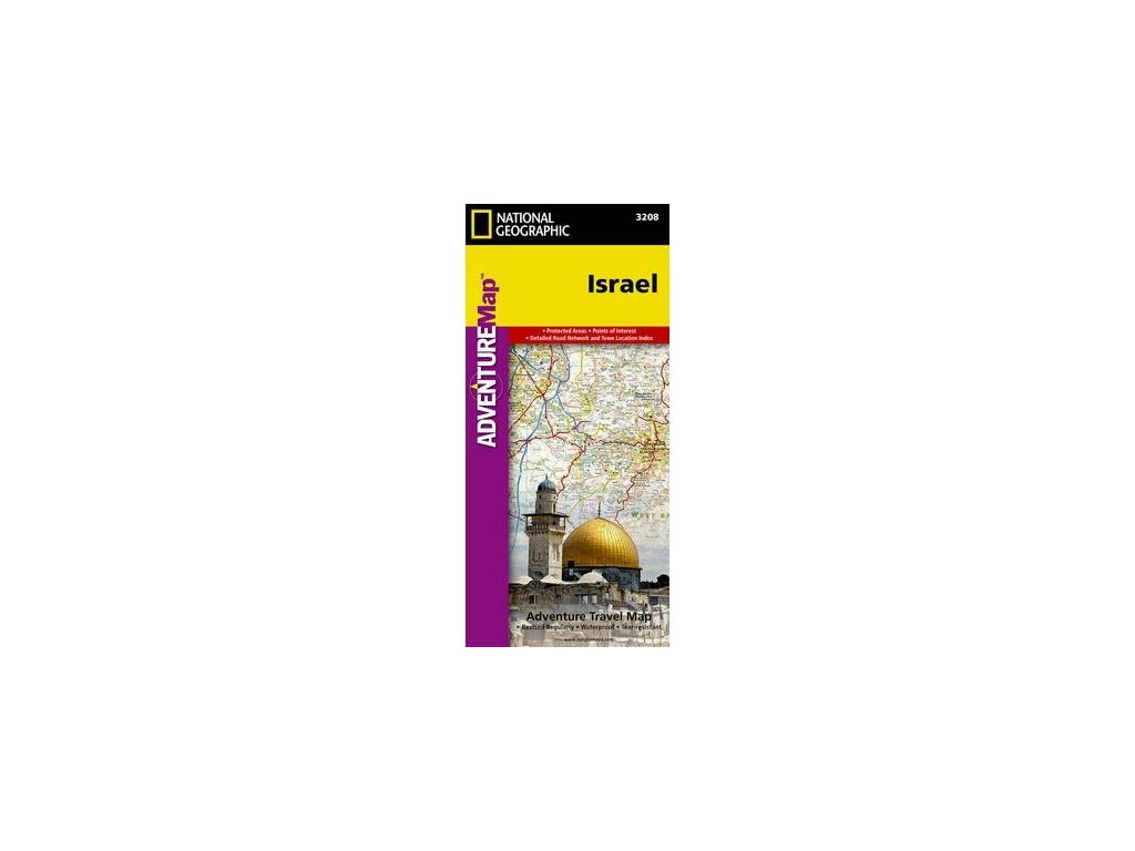Izrael Adventure mapa NGS 1:275tis.