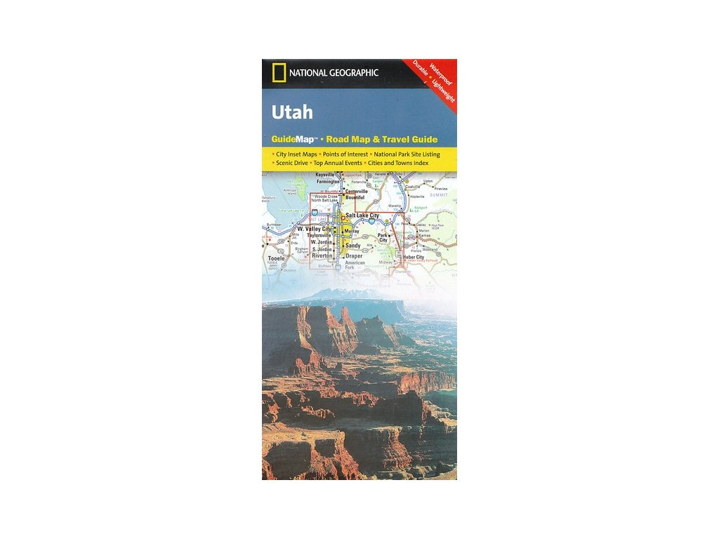 Utah / mapa NG syntetický papír