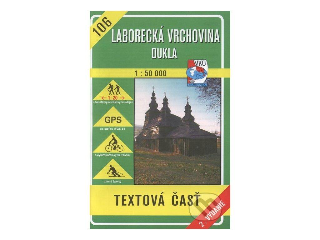VKU 106  Laborecká vrchovina tur.mapa 1:5