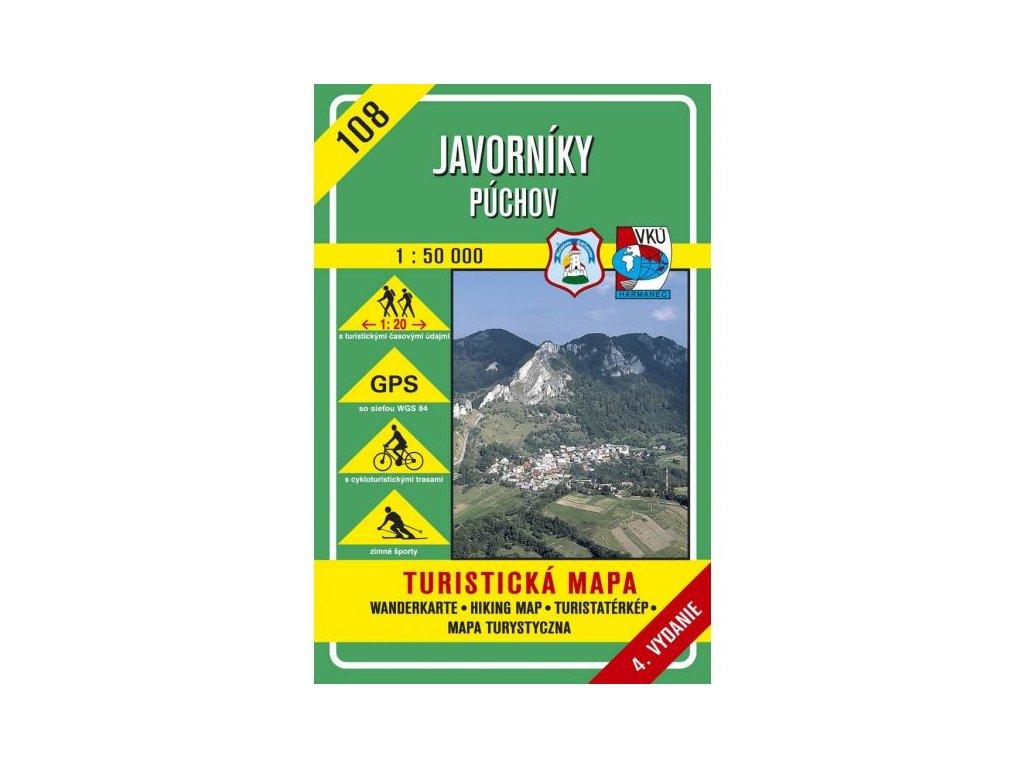 VKU 108  Javorníky Púchov tur.mapa 1:50T