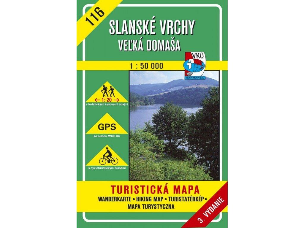 VKU 116  Slanské vrchy-Velká Domaša tur.mapa 1:50T
