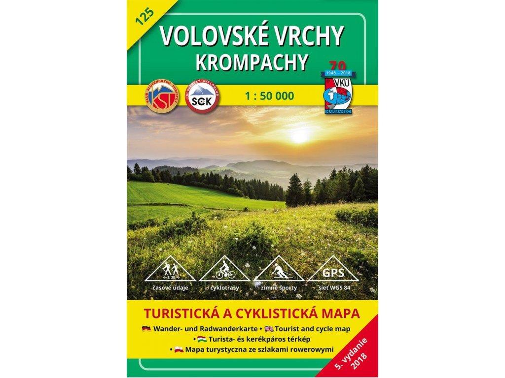 VKU 125  Volovské vrchy tur.mapa 1:50T