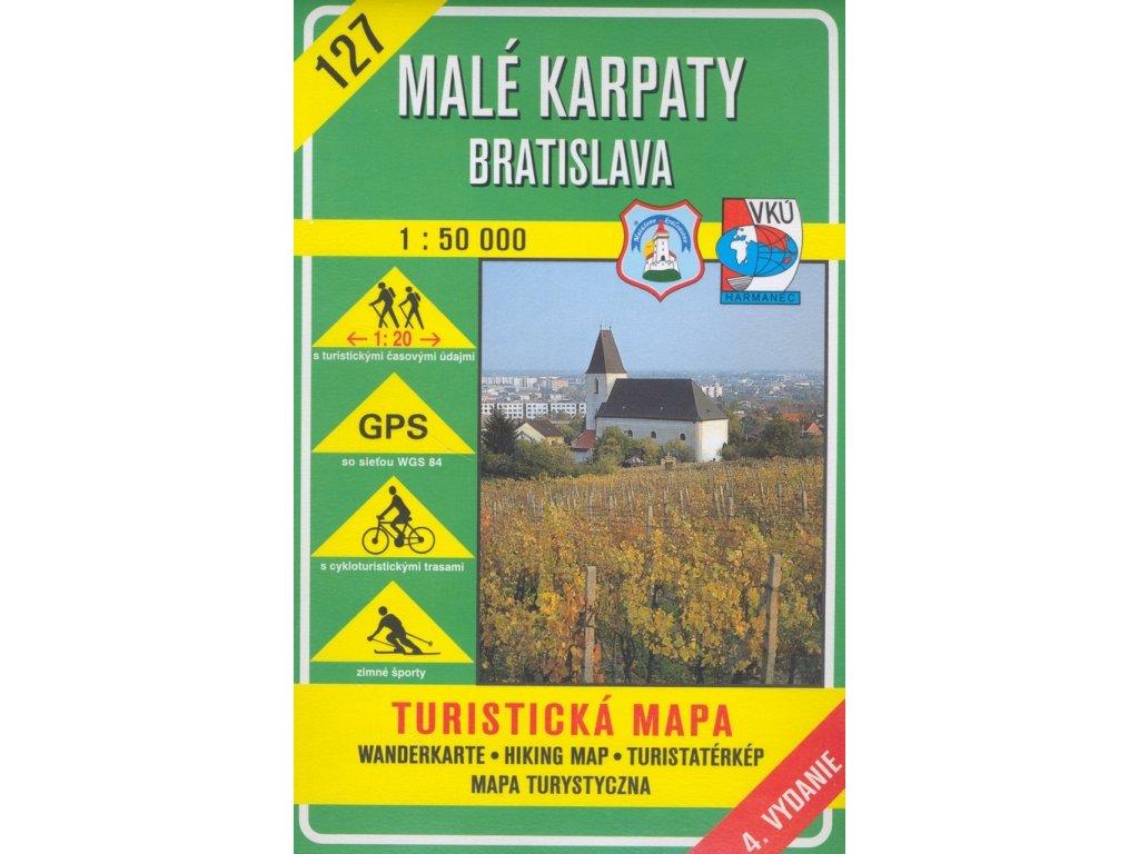 VKU 127  Malé Karpaty-Bratislava  tur. mapa 1:50t