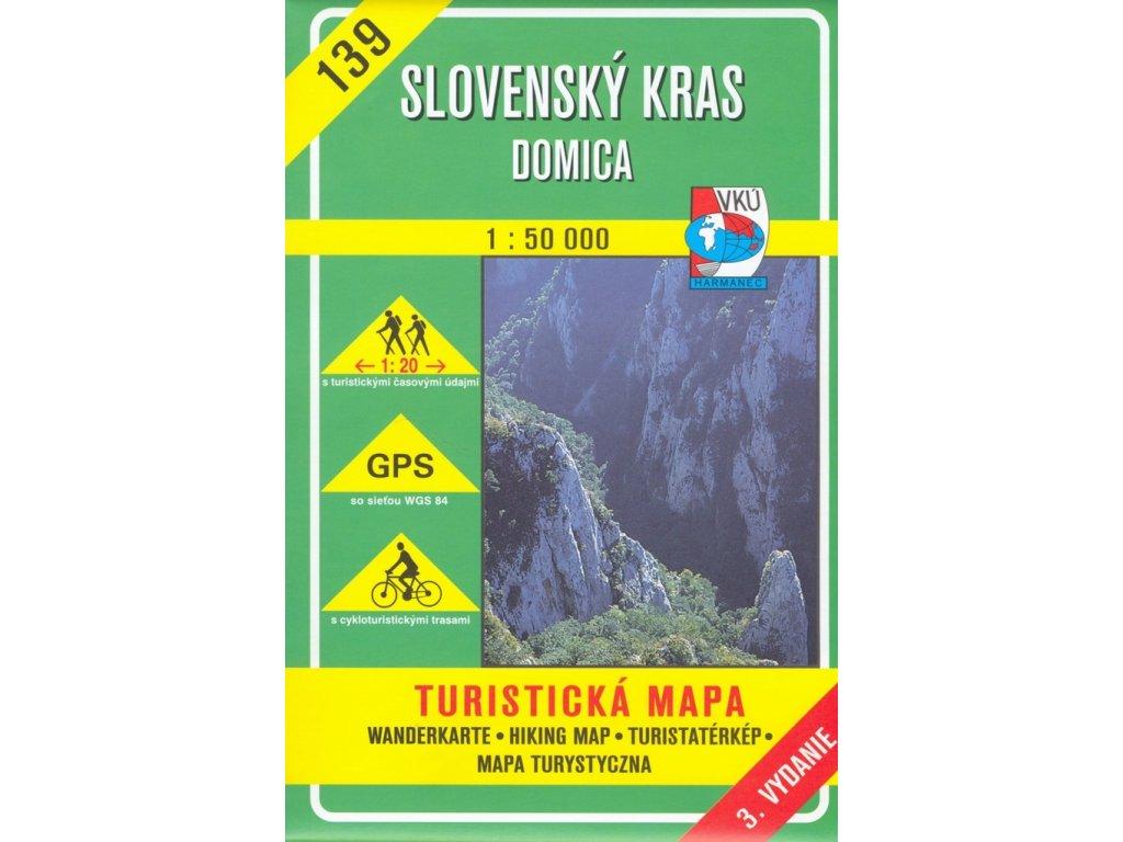 VKU 139  Slovenský kras tur.mapa 1:50T