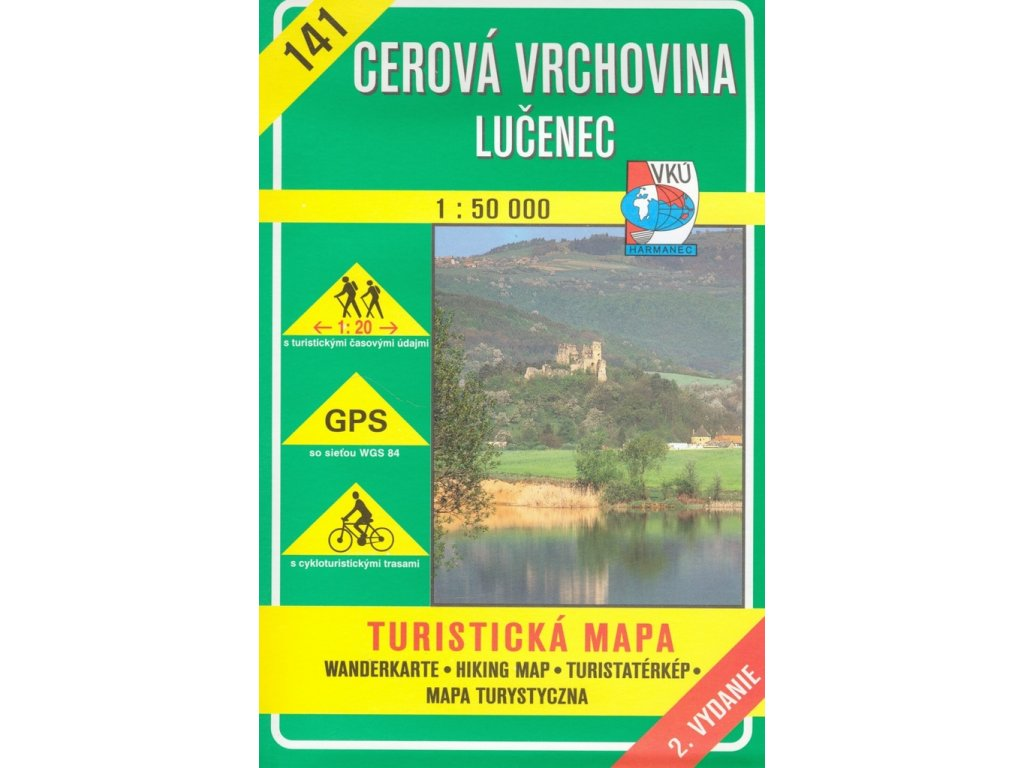 VKU 141  Cerová vrchovina tur.mapa 1:50t