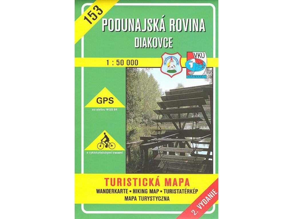 VKU 153  Podunajská rovina tur.mapa 1:50t