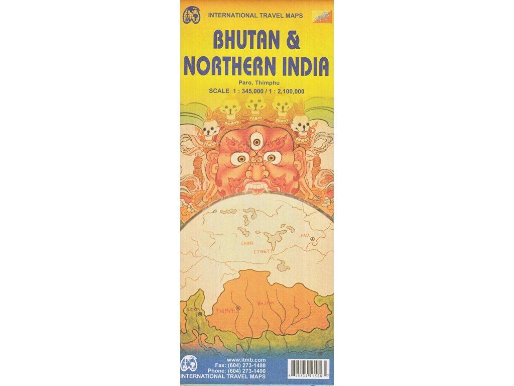 Bhutan, Sev. Indie mapa 1:350tis ITM
