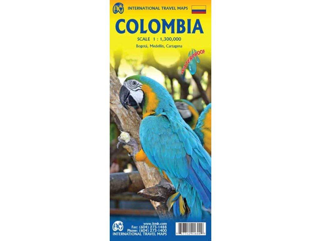 Kolumbie  mapa 1:1.3mil. ITM