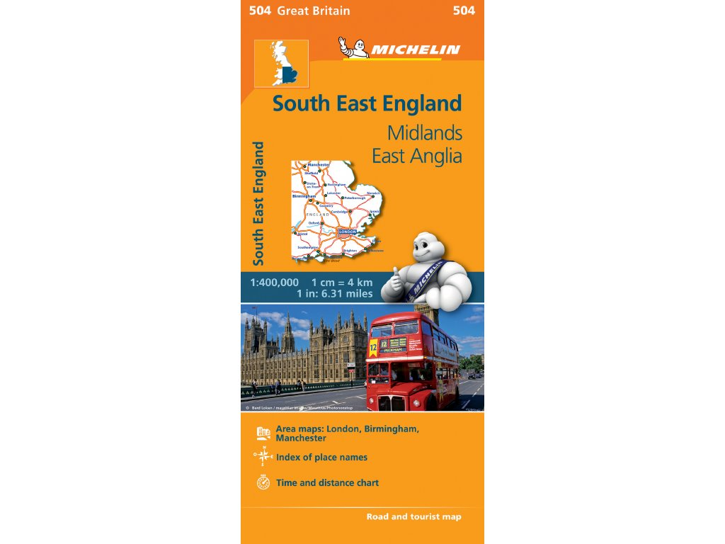 MK 504 South East England,  mapa  1:400t