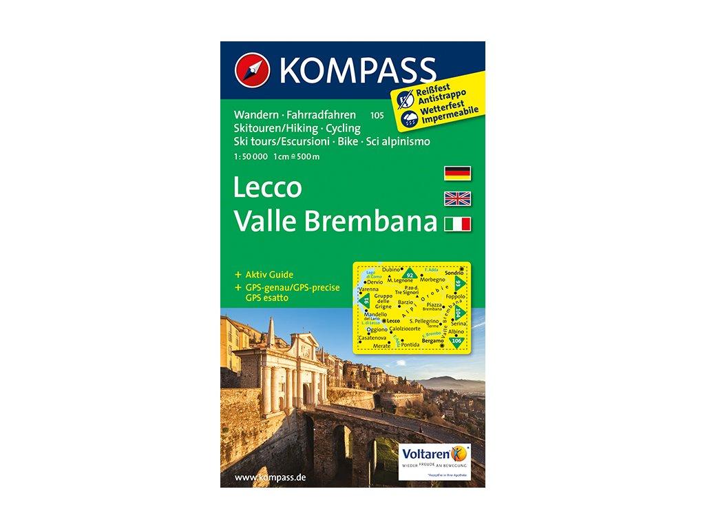 KOM 105 Lecco tur.mapa 1:50t