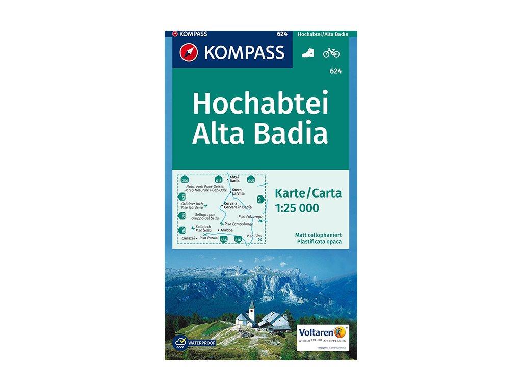 KOM 624 Hochabteil/Alta Badia 1:25tis