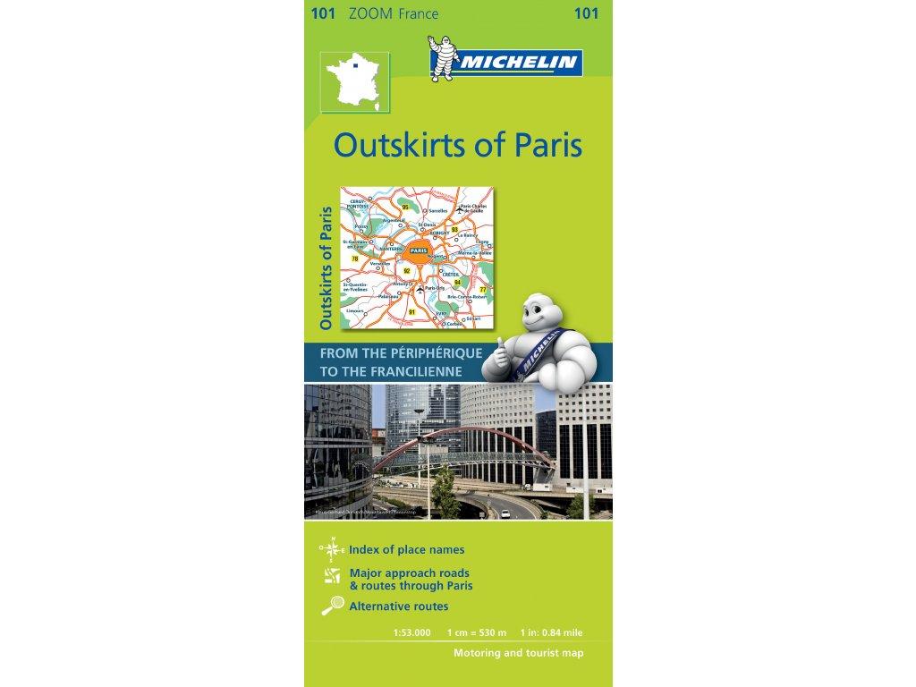 MK 101 Paříž a předměstí/mapa 1:53tis.