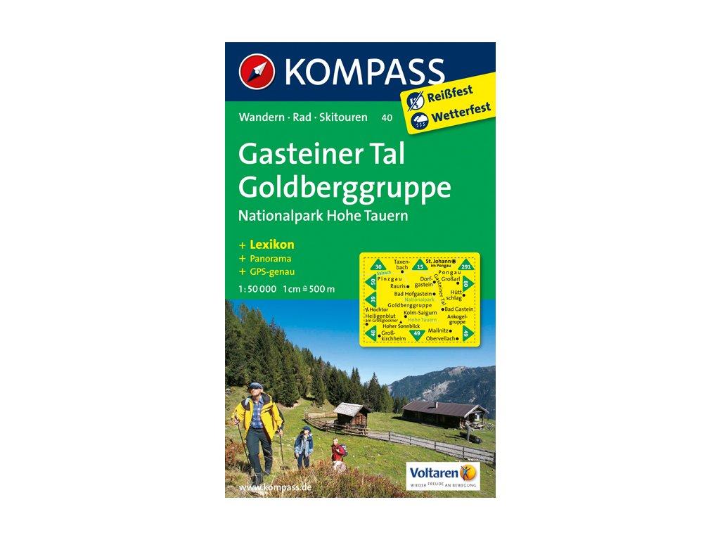KOM 40 Gasteiner Tal Gold.tur.mapa 1:50t