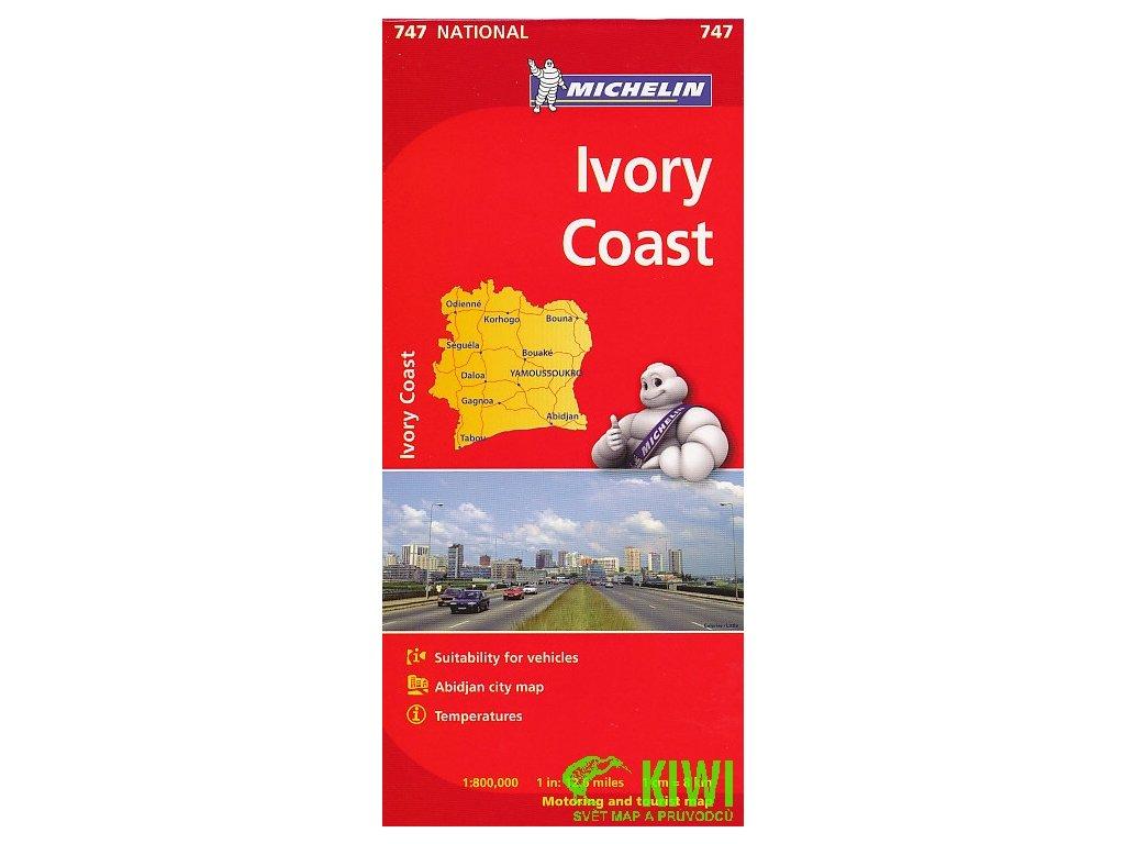 Pobřeží slonoviny,  mapa 1:800t Michelin