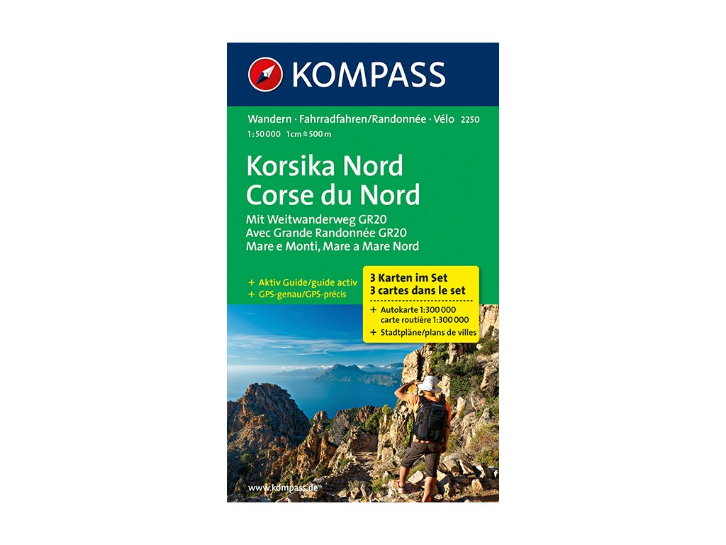 KOM 2250 Korsika Nord (3-map set)