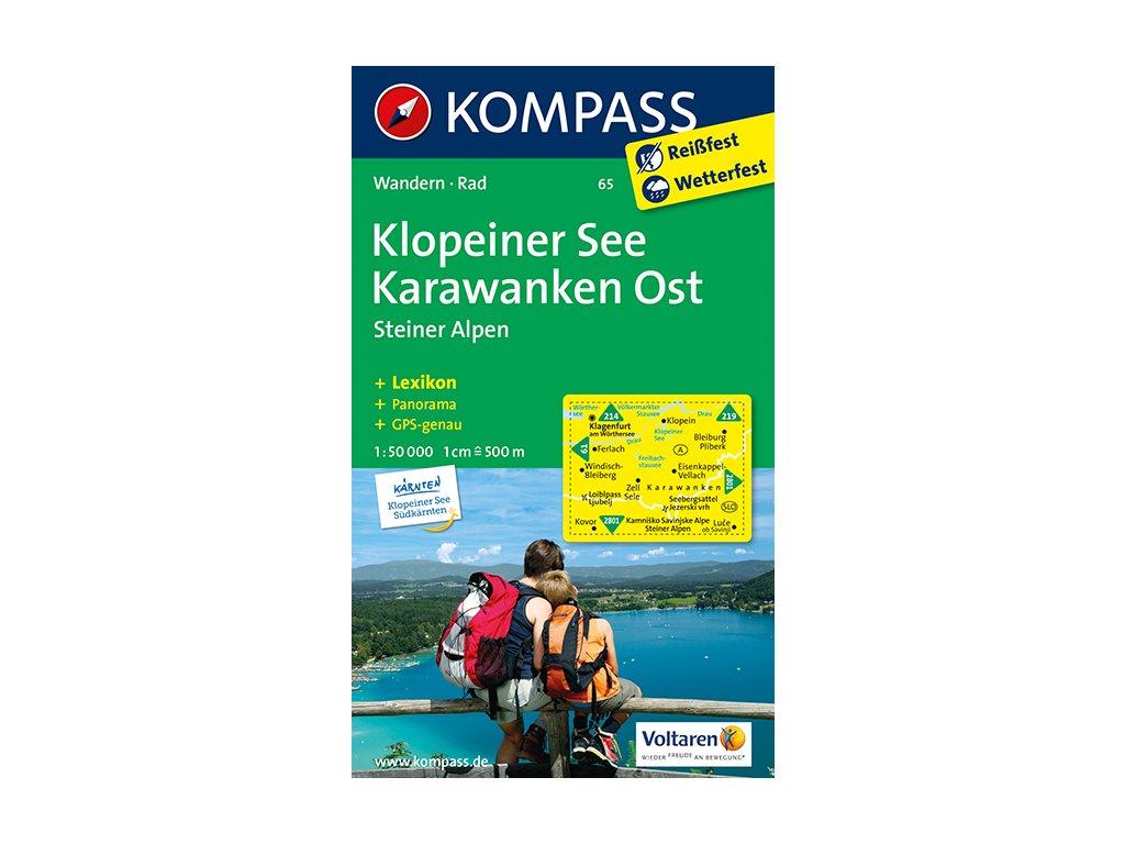 KOM 65 Klopeiner See Karawanken t.m.1:50