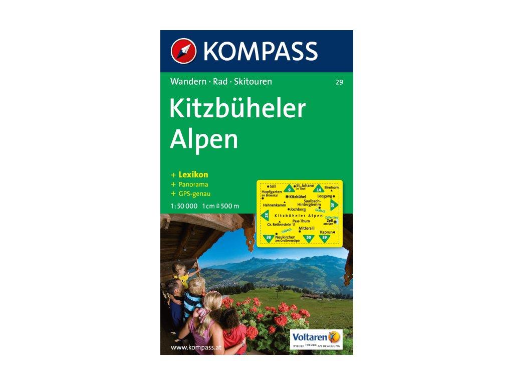 KOM 29 Kitzbúheler Alpen tur.mapa 1:50T