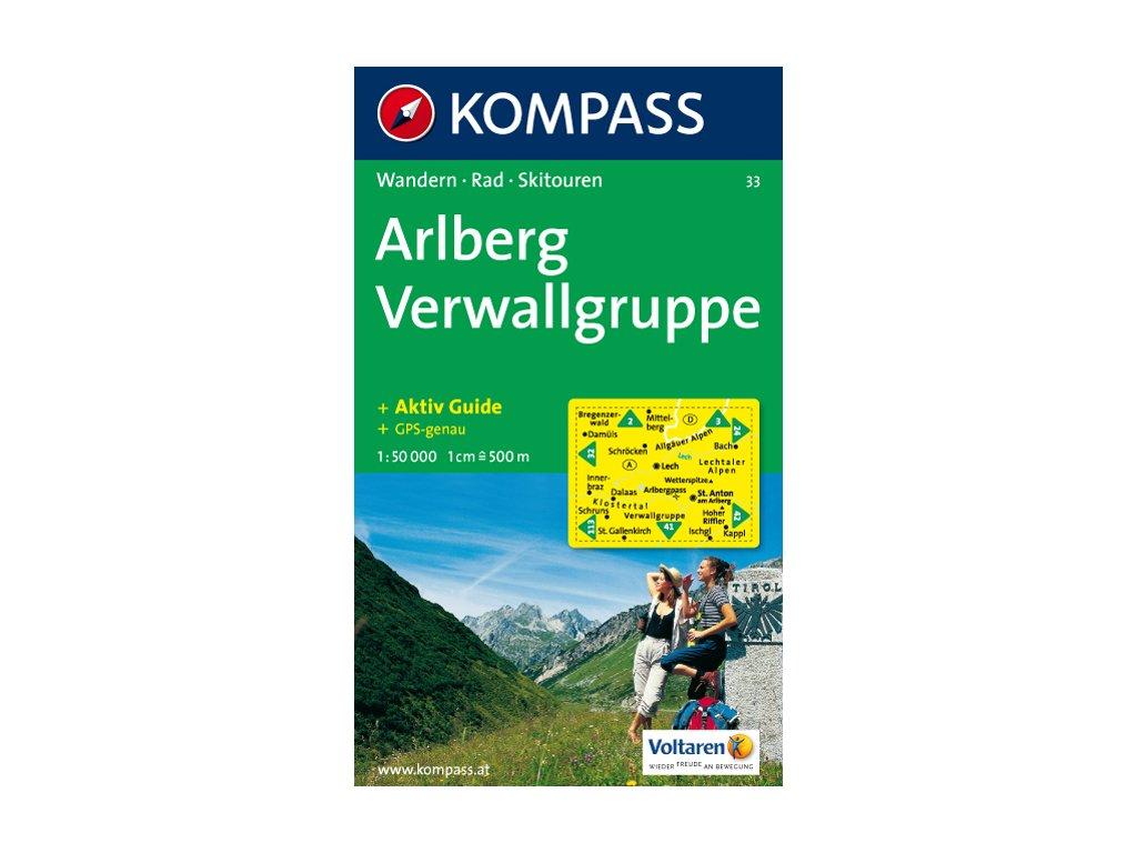 KOM 33 Arlberg Nordl.Verwallgruppe 1:50t