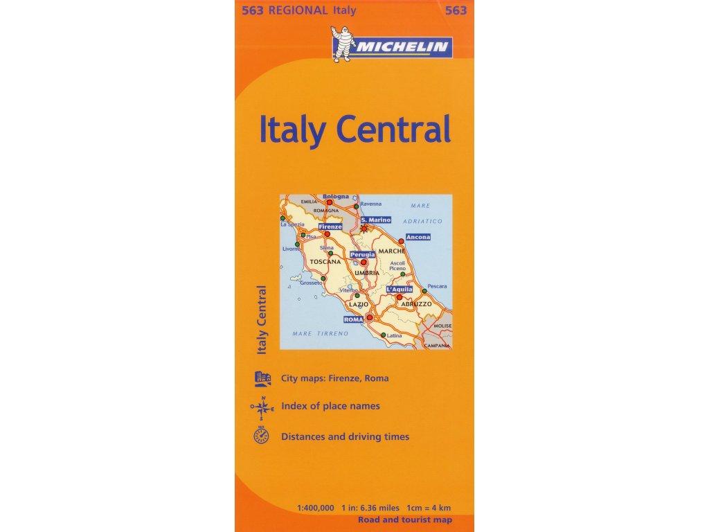 MK 563 Itálie střed,  mapa 1:400t