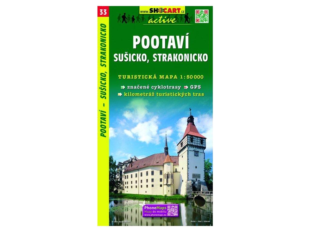 SC 33 Pootaví,Sušicko,Strakonicko mapa 1:50T