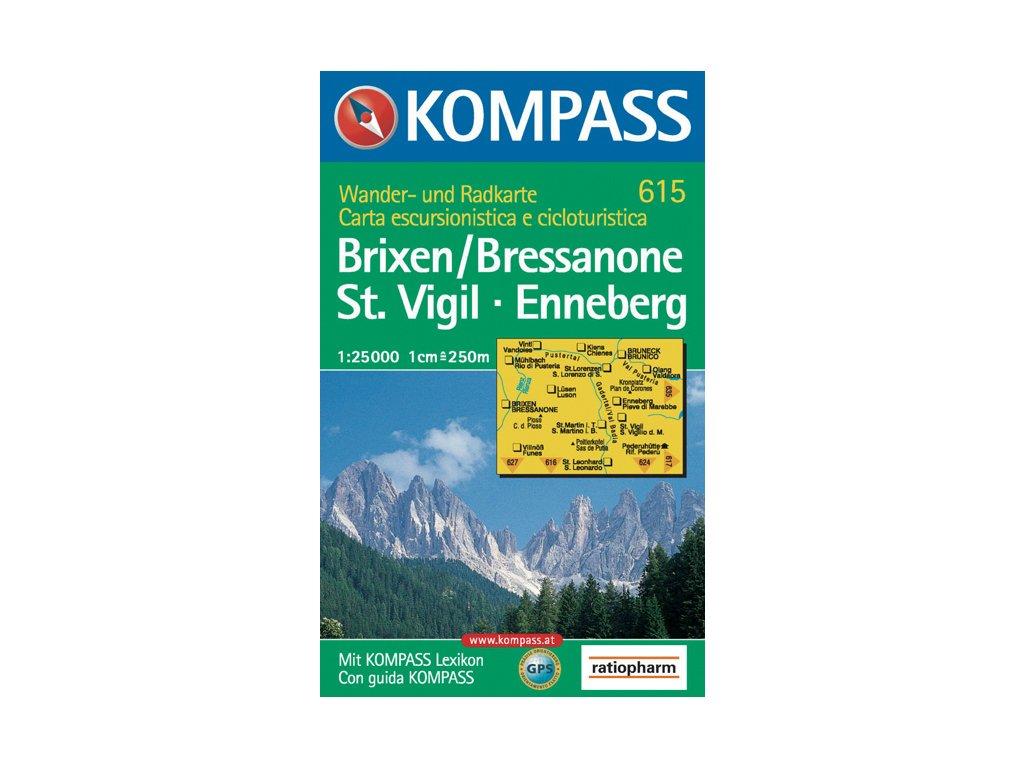 KOM 615 Brixen/Bressanone 1:25tis