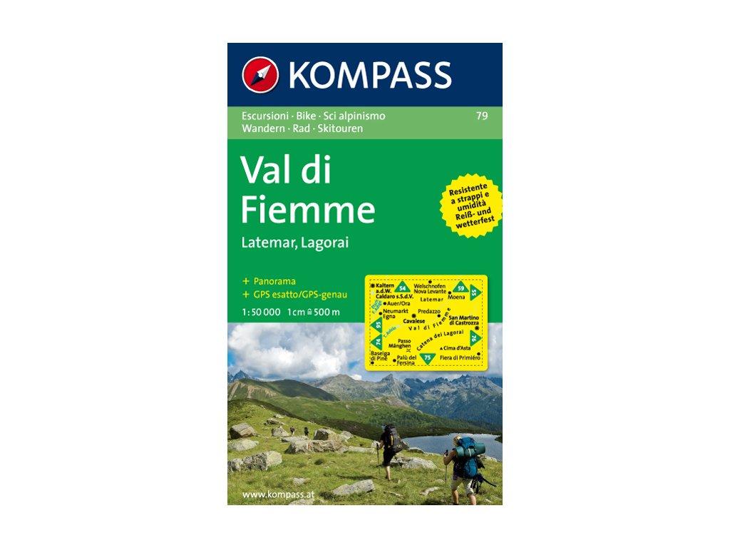 KOM 79 Val di Fiemme tur.mapa 1:50T