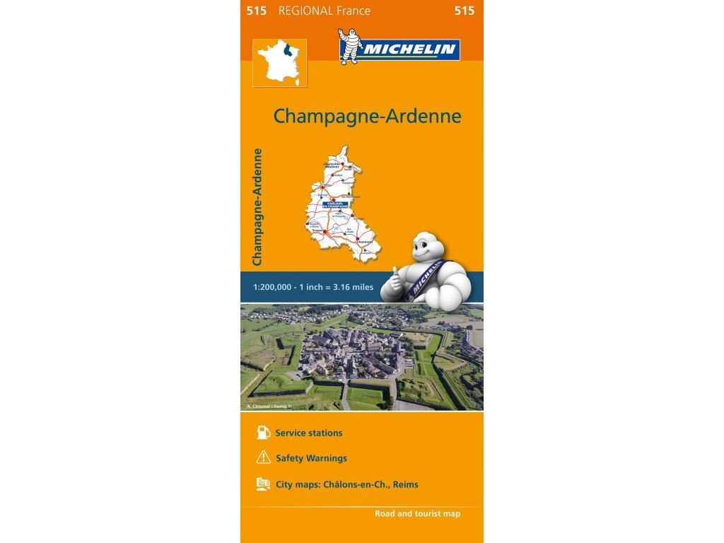 MK 515 Champagne Ardenne, mapa  1:200t