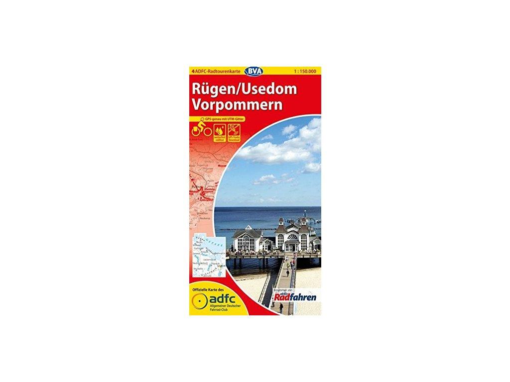 Rugen/Usedom Vorpommern ADFC 1:150tis. č. 4