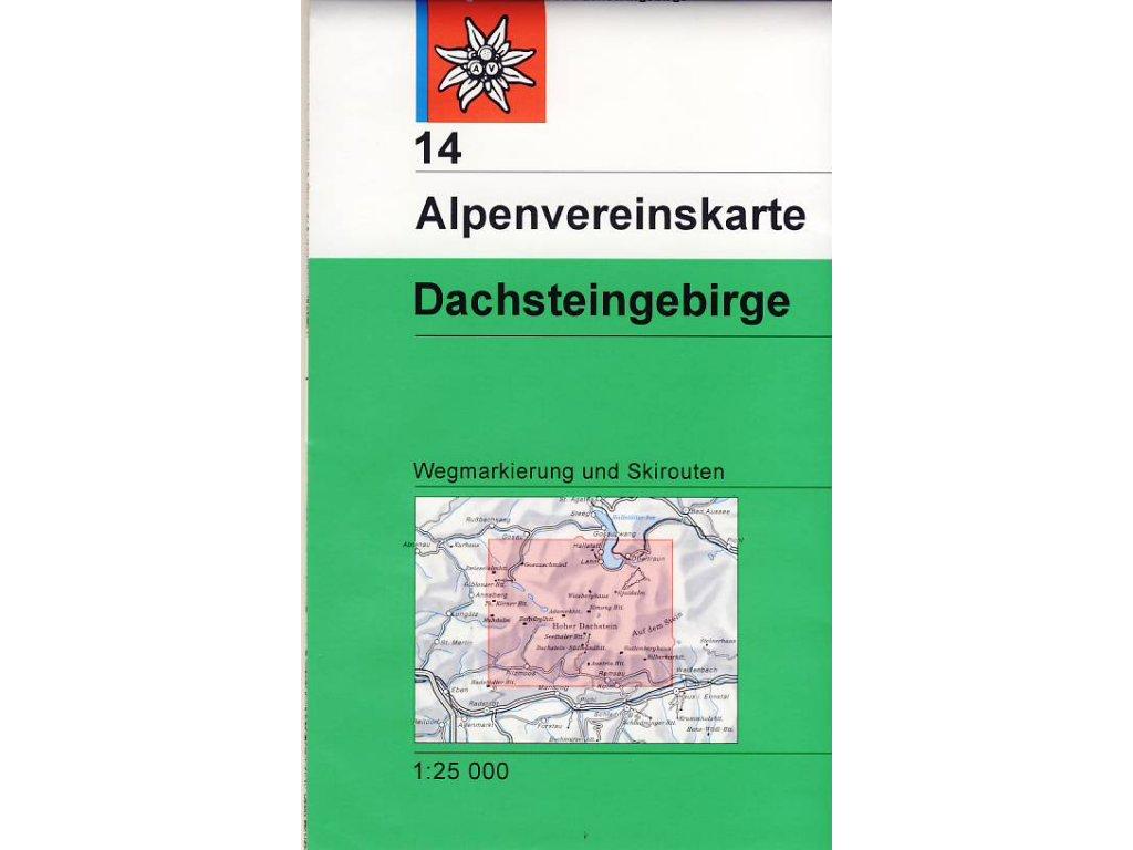 AV14 Dachsteingebirge 1:25tis