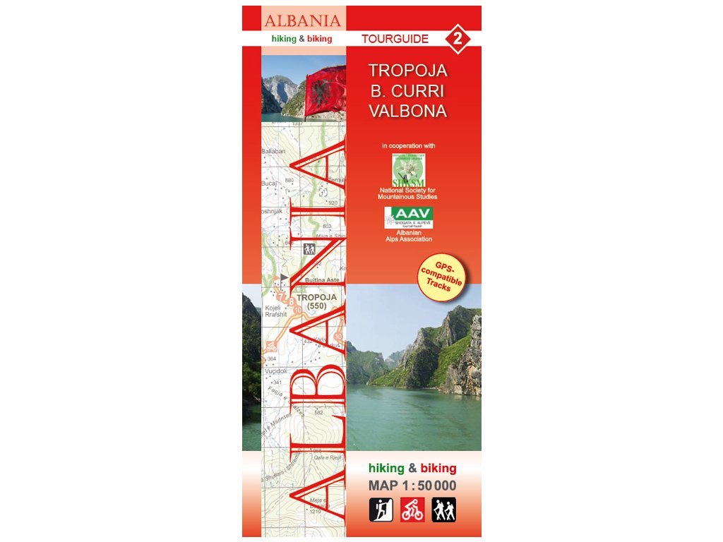 Tropoja-Albanie č.2/tur.mapa 1:50t