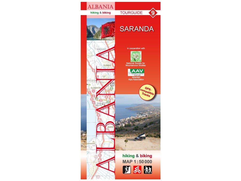 Saranda-Albánie č.9/tur.mapa 1.50t