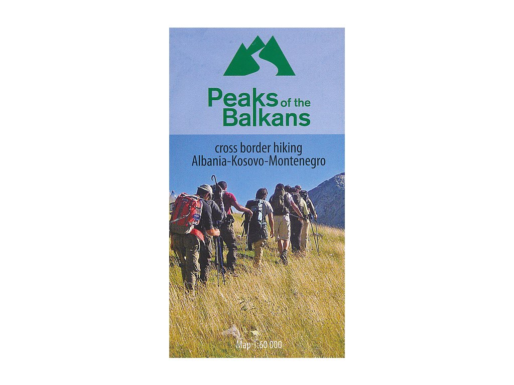 Peaks of the Balkans/mapa 1:60t