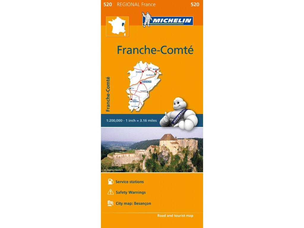 MK 520 Franche-Comté, mapa  1:250tis