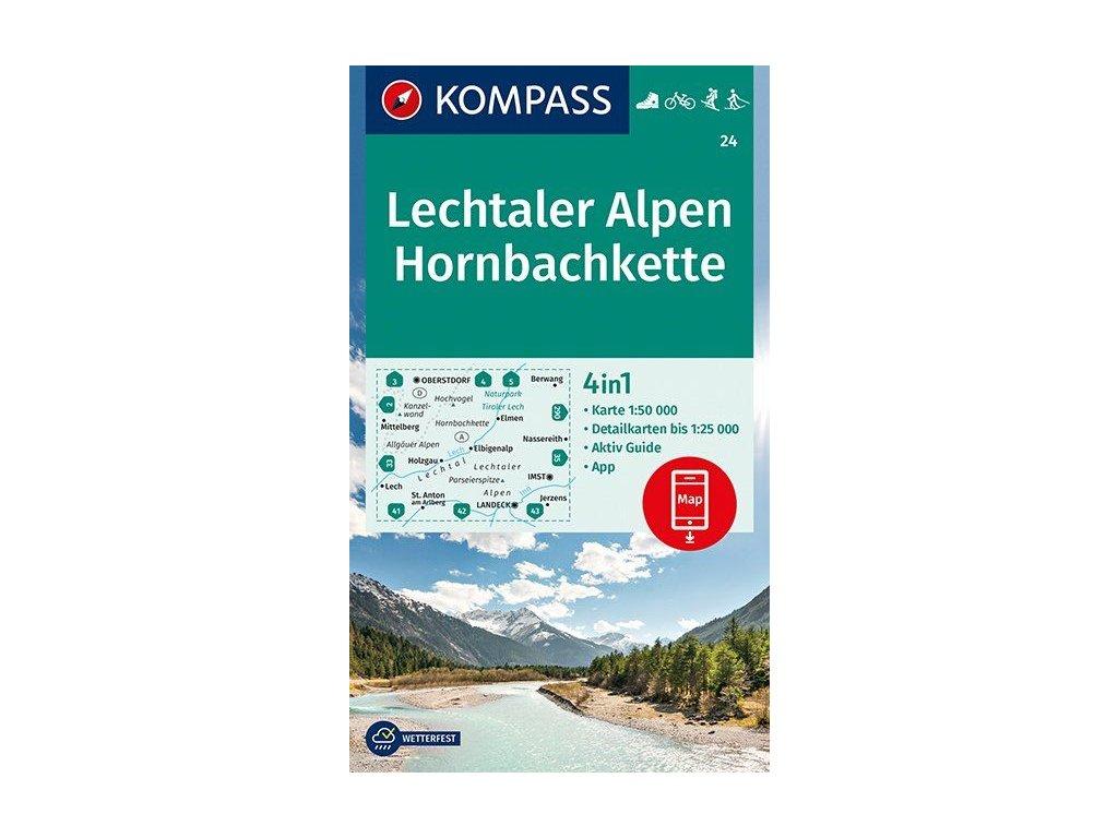 KOM 24 Lechtaler Alpen tur.mapa 1:50t