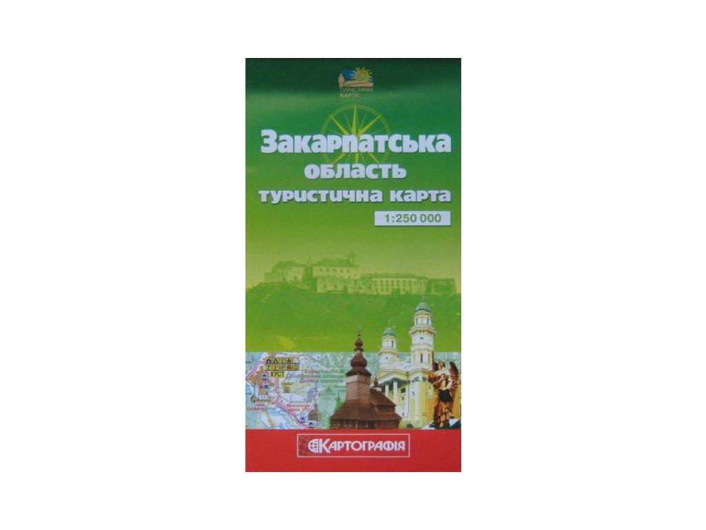Zakarpatská oblast/mapa 1:250tis.