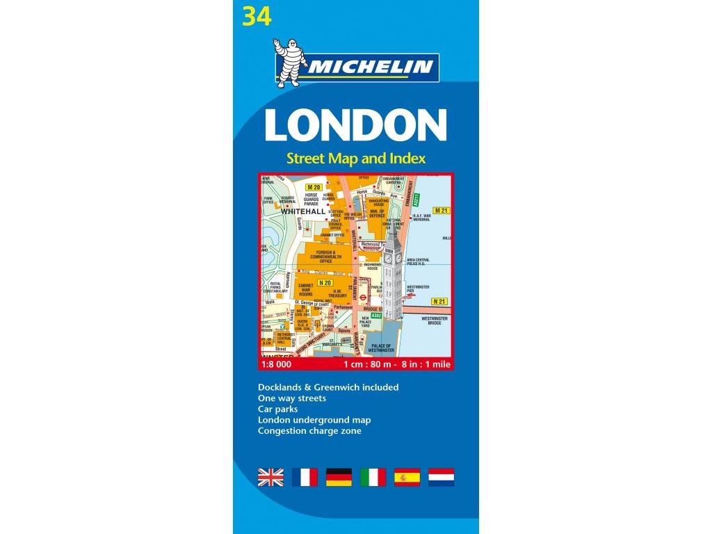 Londýn /plán města, mapa  1:8t Michelin 034