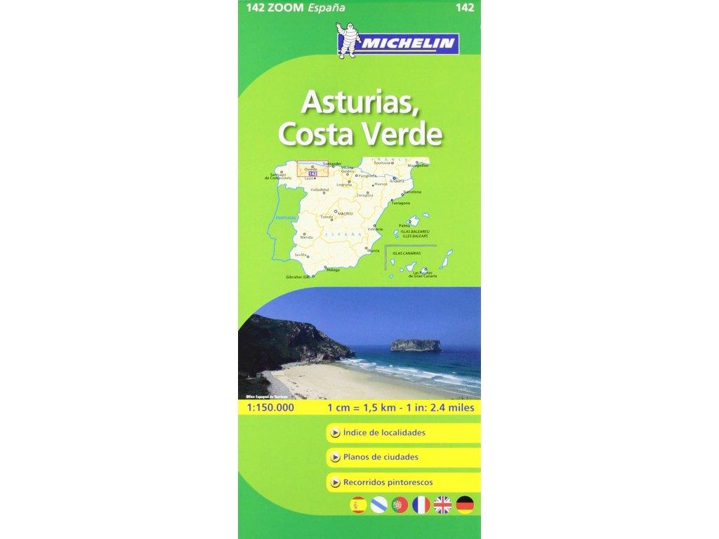 MK 142 Asturias,Costa verde /mapa 1:150t