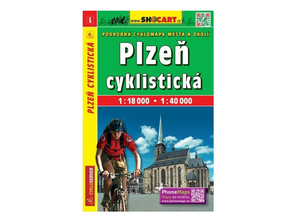 Plzeň cyklistická mapa 1:18t/1:40t SC