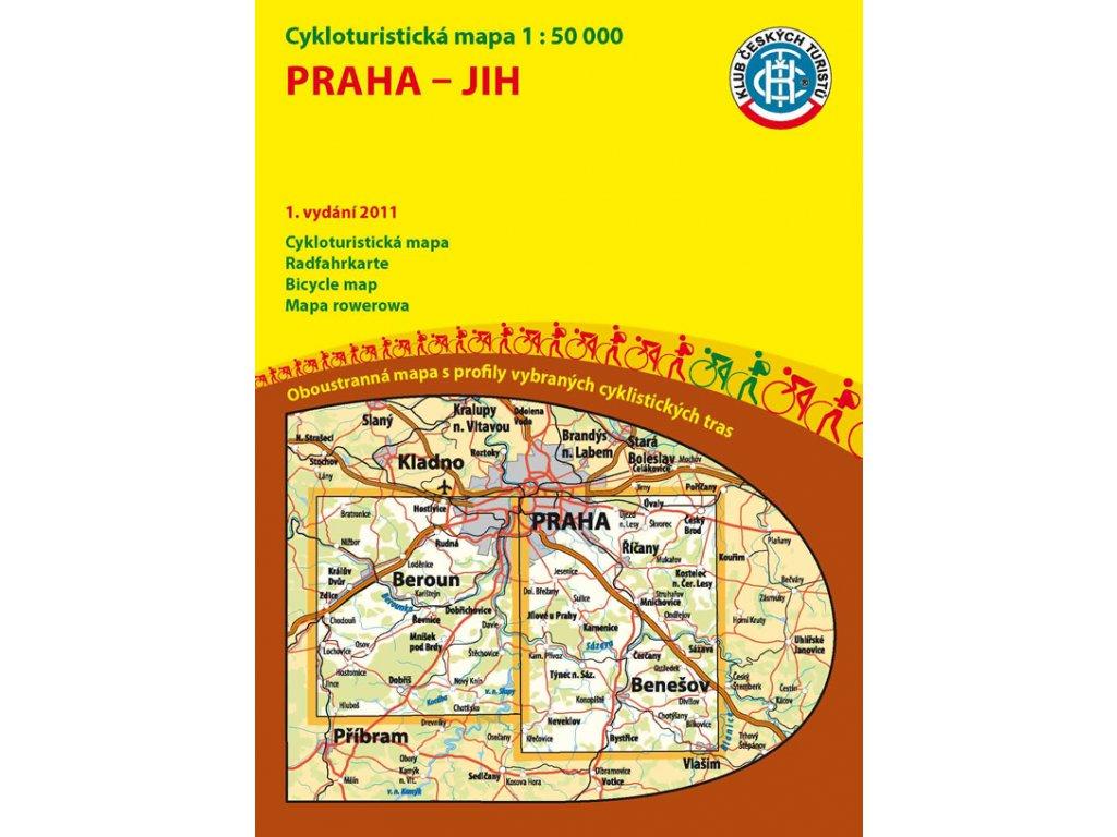 Praha-jih / cyklomapa 1:50t KčT