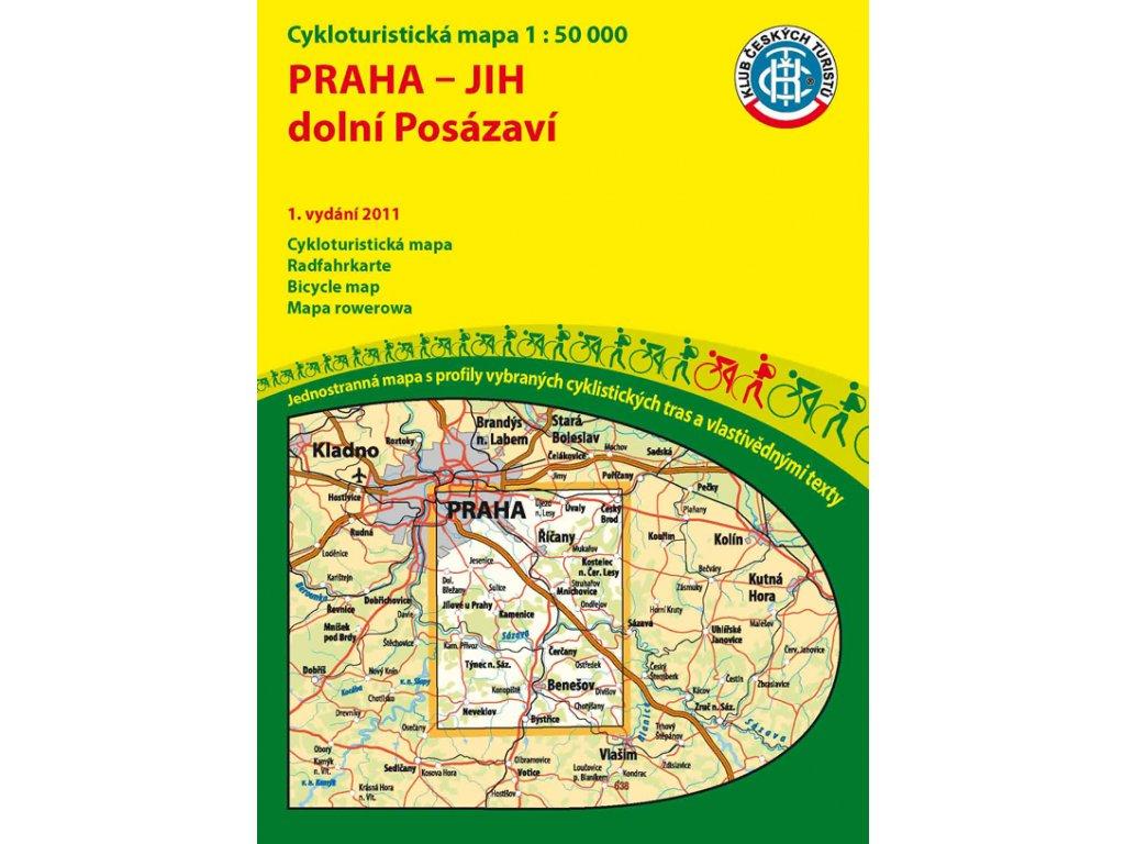 Praha-jih,dolní Posázaví/cyklo 1:50t KČT