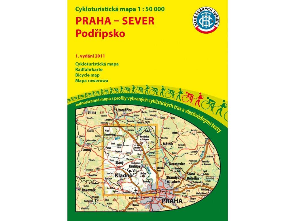 Praha-sever,Podřipsko / cyklo 1:50t Kčt