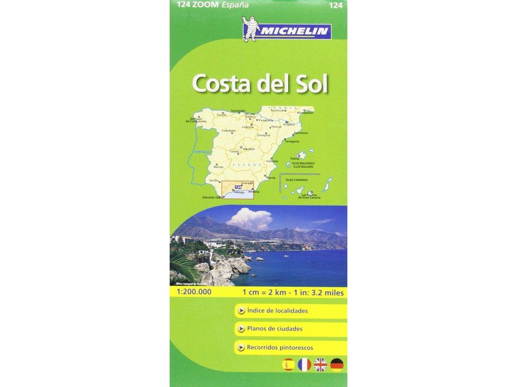 MK 124 Costa del So, mapa l 1:150t Michelin