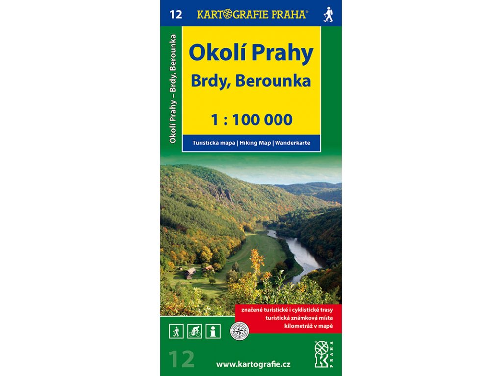 TM 12 Okolí Prahy-Brdy,Berounka  1:100T